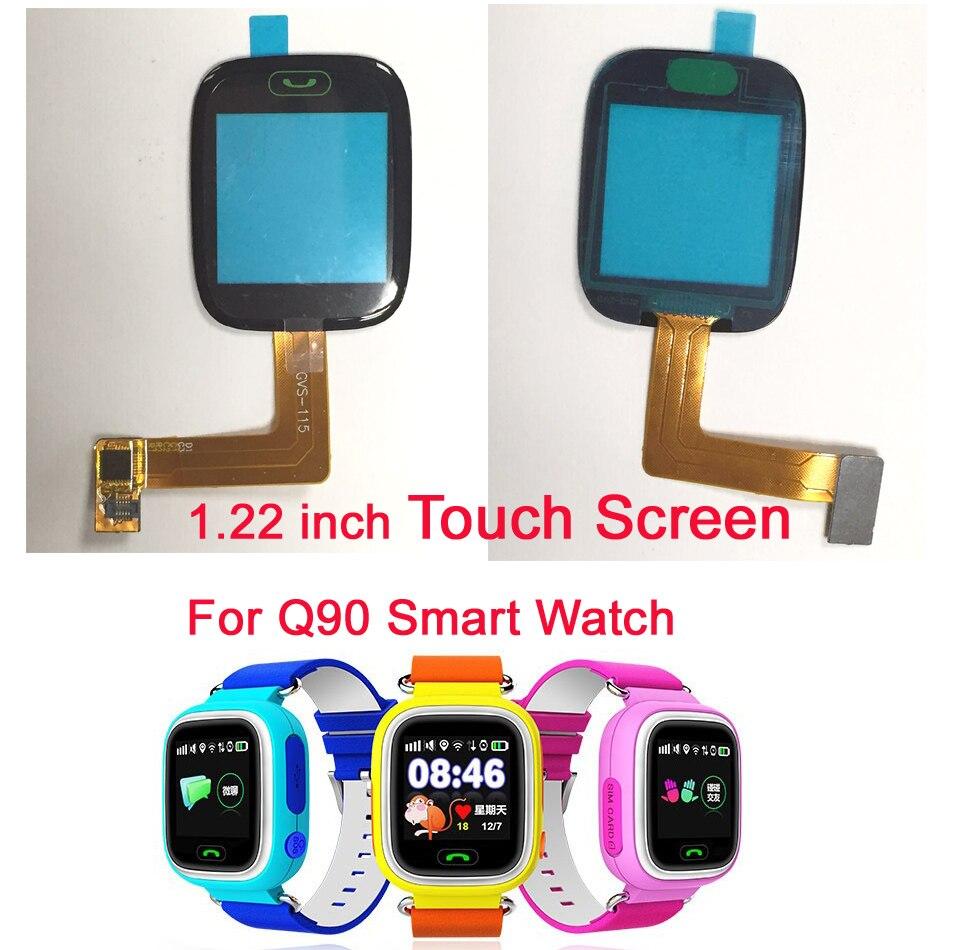 imágenes para Original Q80 Q90 Niños ACCESORIOS Del Teléfono 1.22 pulgadas de pantalla táctil de Cristal para Q80 Q90 pantalla Táctil reloj teléfono Inteligente