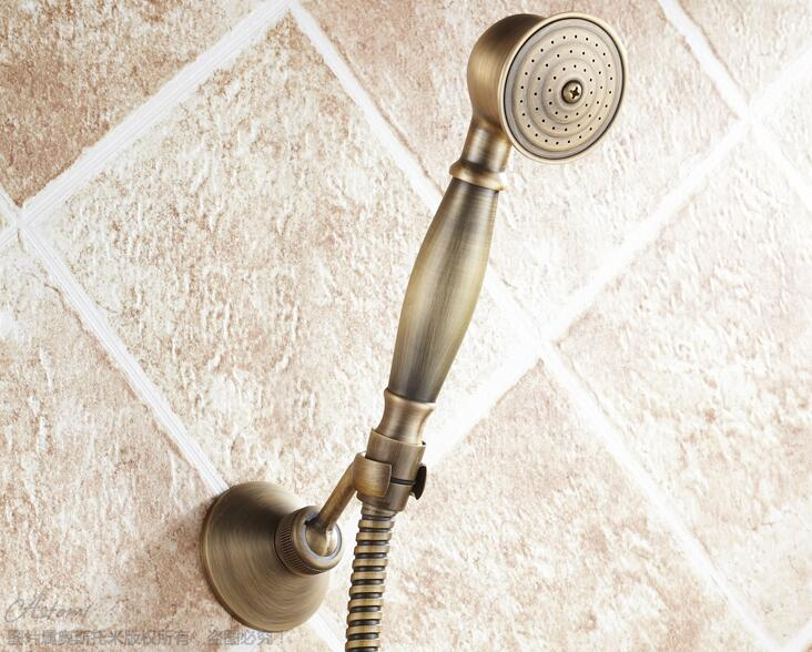Free shipping Antique Brass Hand Shower Sets Solid Brass Hand Shower, antique bronze Shower and hose and holder TH047