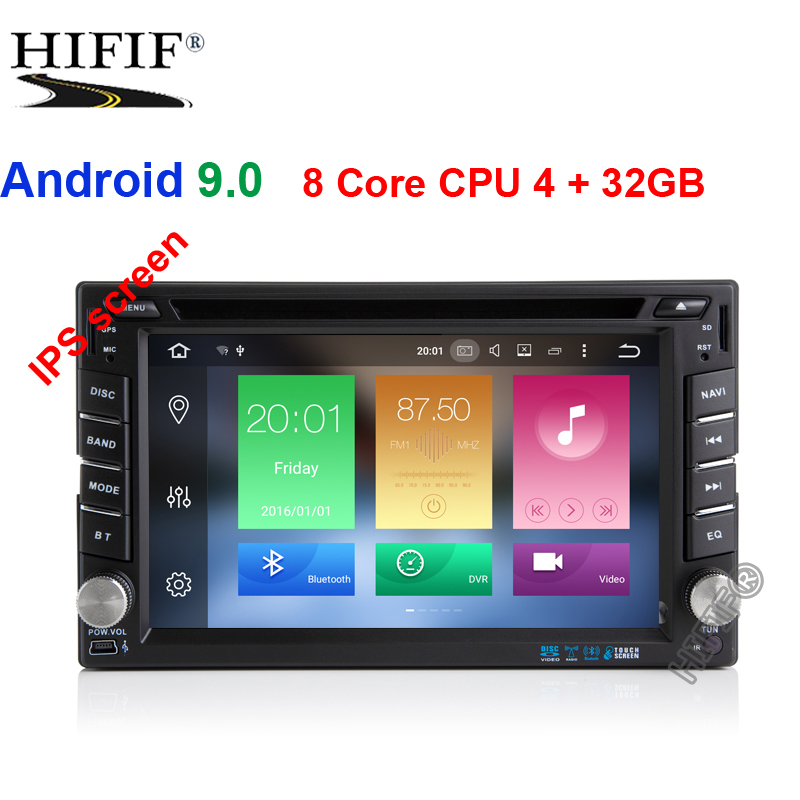 DSP 6.2 4G+32G Android 9.0 Universal Car DVD Audio Stereo GPS Navigation Double 2 Din HD Head Unit Multimedia Player 178*100mm