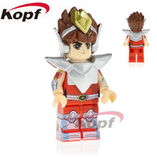 Building Blocks Single Sale Knights of the Zodiac Pegasus Athena Hyoga Ikki Saint Seiya Toys Super Heroes Children Gift PG1151(China)