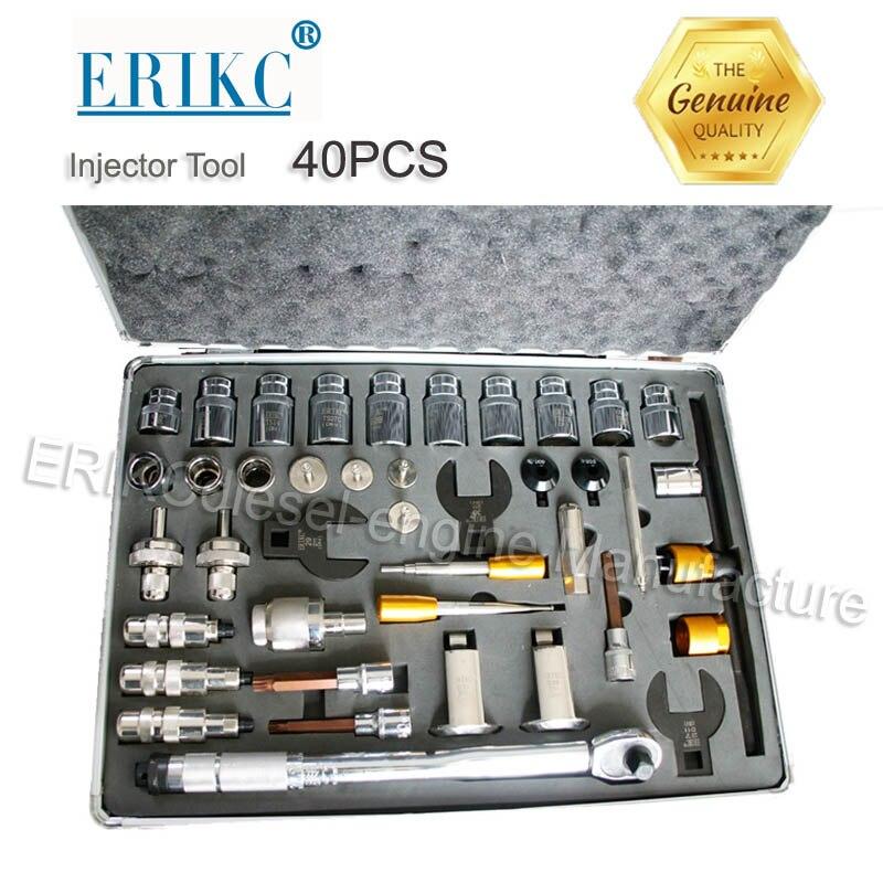 ERIKC Лидер продаж инжектор ремонт инструмента Наборы дизельного топлива инжектор демонтаж оборудования всего 40 шт.