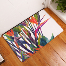 Non Slip Colorful Plants Printed Floor Mats