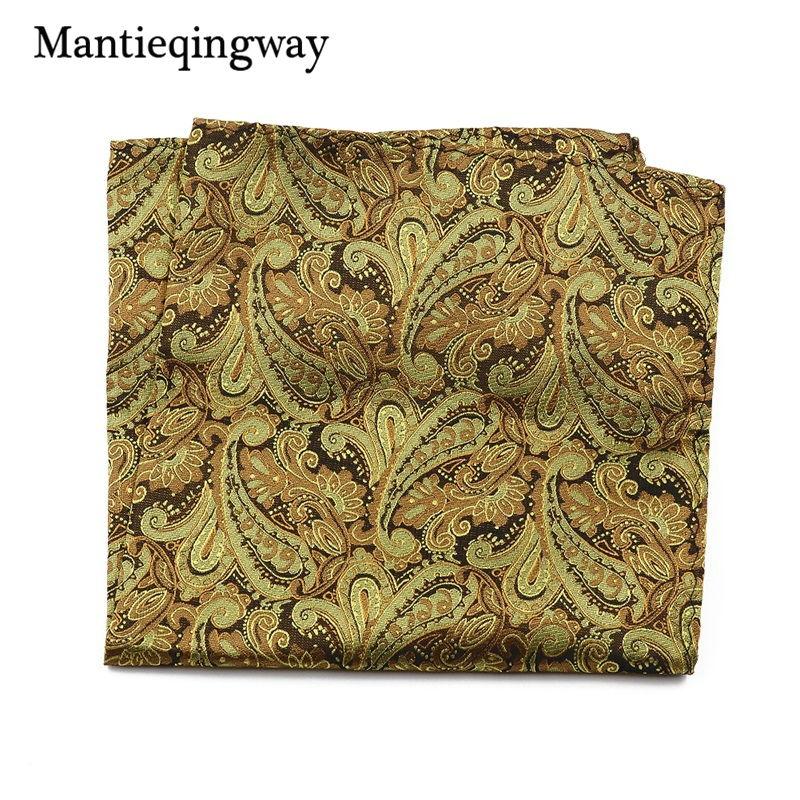 Mantieqingway Men's Paisley Floral Handkerchief Pocket 30*30cm Pocket Square Wedding Suits Chest Towel Hanky Polyester Hankies