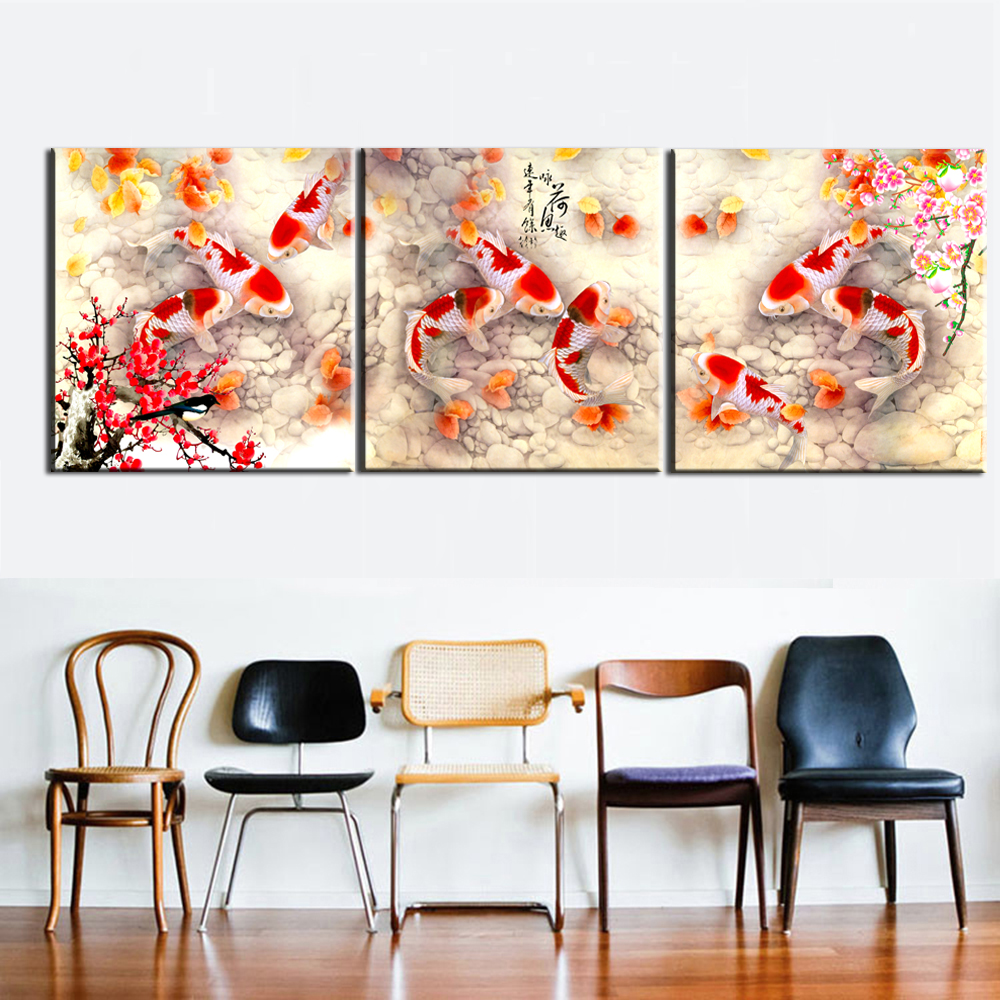 Unframed Carp Koi Fish In Pond Wall Art Large Canvas Prints Feng