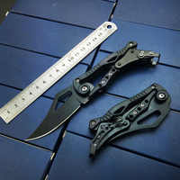 Mechanical Tactical Pocket Knife Outdoor Folding Blade keychain knife for women Survival Camping Knives Gift for Man EDC Tools