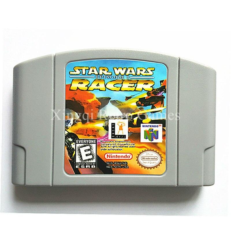 Nintendo N64 Game Star Wars Episode 1 Racer Video Game Cartridge Console Card English Language US