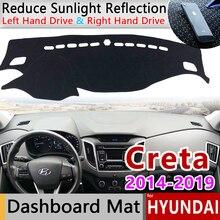 현대 creta ix25 용 2014 2015 2016 2017 2018 2019 미끄럼 방지 매트 대시 보드 커버 패드 차양 dashmat 카펫 자동차 액세서리