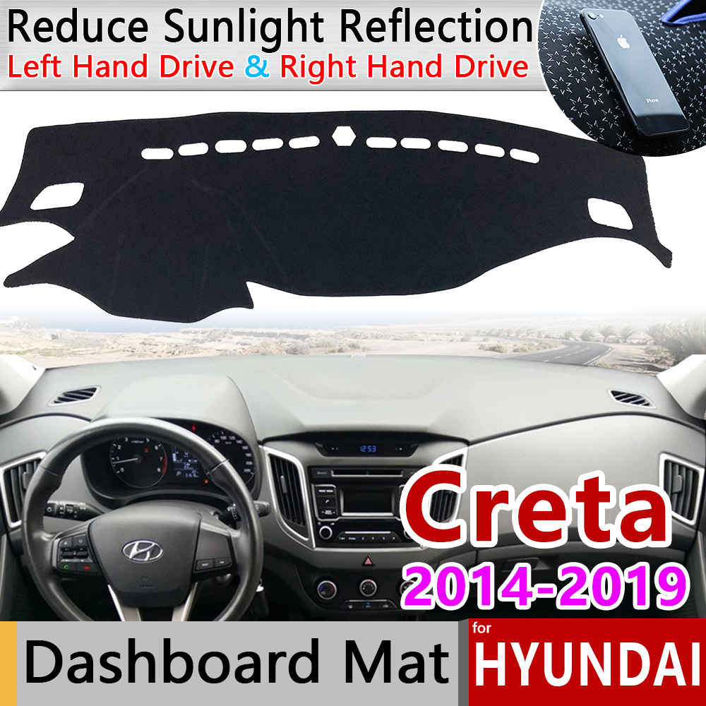 For Hyundai Creta Ix25 2014 2015 2016 2017 2018 2019 Anti-Slip Mat Dashboard Cover Pad Sunshade Dashmat Carpet Car Accessories