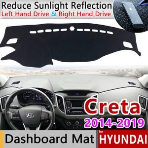 Image 1 - for Hyundai Creta Ix25 2014 2015 2016 2017 2018 2019 Anti Slip Mat Dashboard Cover Pad Sunshade Dashmat Carpet Car Accessories