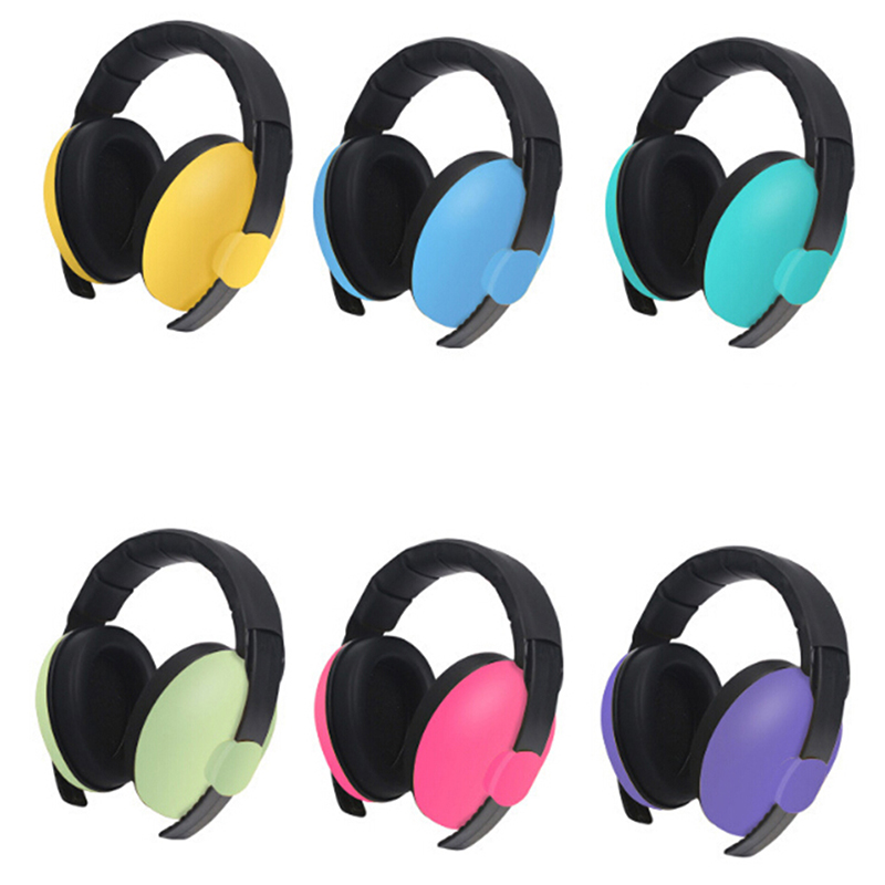 Kids Hearing Protector Noise Earmuffs Soft Earmuffs for Baby Care Noise Reduction Ear Protection Ear Muffs for 3 Months-4 Years