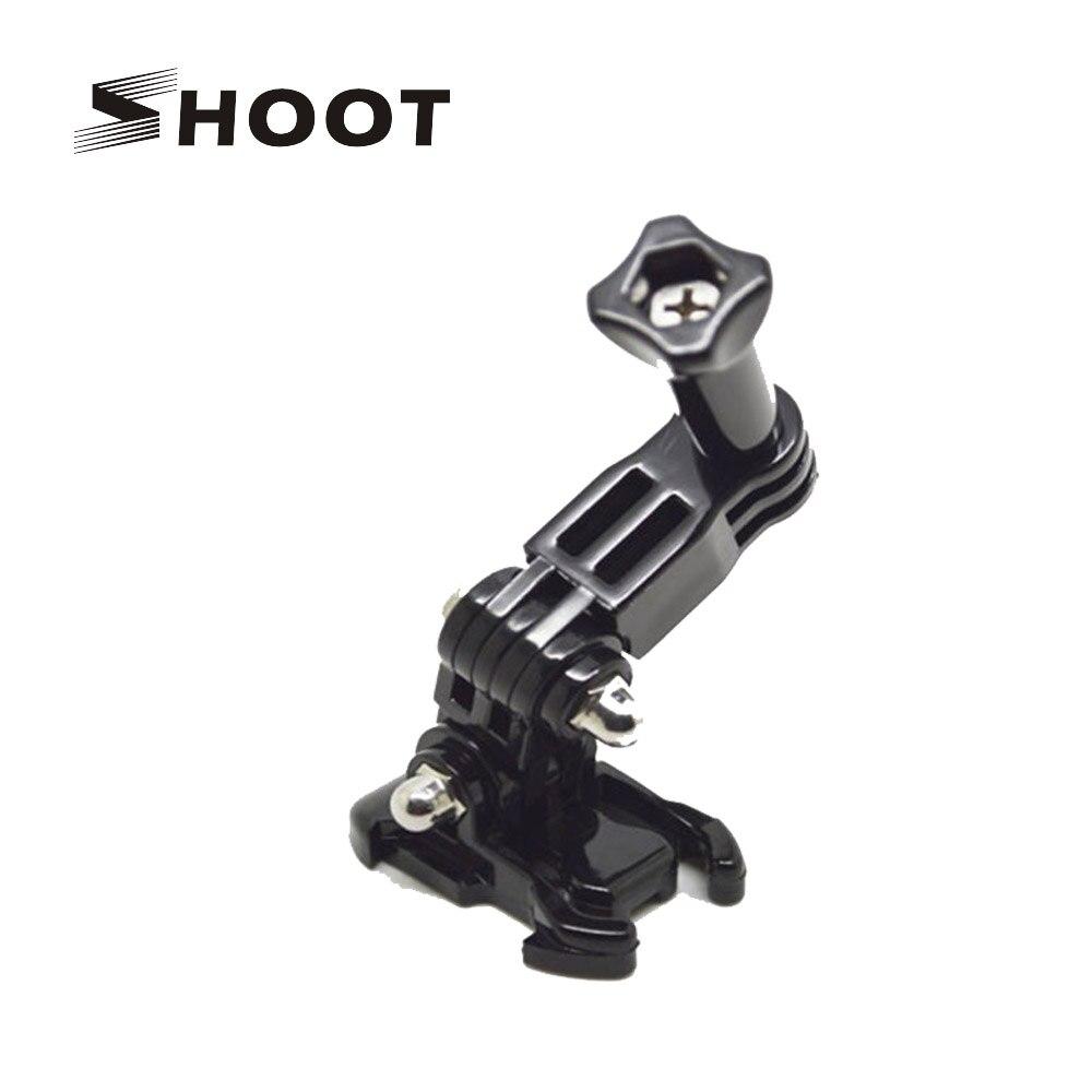Galleria fotografica SHOOT 3 Way Adjustment Base Mount Pivot Arm Adapter for gopro hero 5 4 3 xiaomi yi 4k sjcam sj4000 Action Camera Accessory
