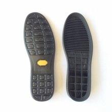 Décontracté hommes chaussures en cuir semelles de remplacement autocollants antidérapants résistant à lusure en caoutchouc fond awl semelle extérieure chaussures de réparation fond de voiture