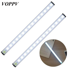 VOPPV LED Under Cabinet Light for Closet/Cupboard/Wardrobe/Cabinet Touch Sensor ABS LED Wardrobe Kitchen Lamps Bedroom Lights
