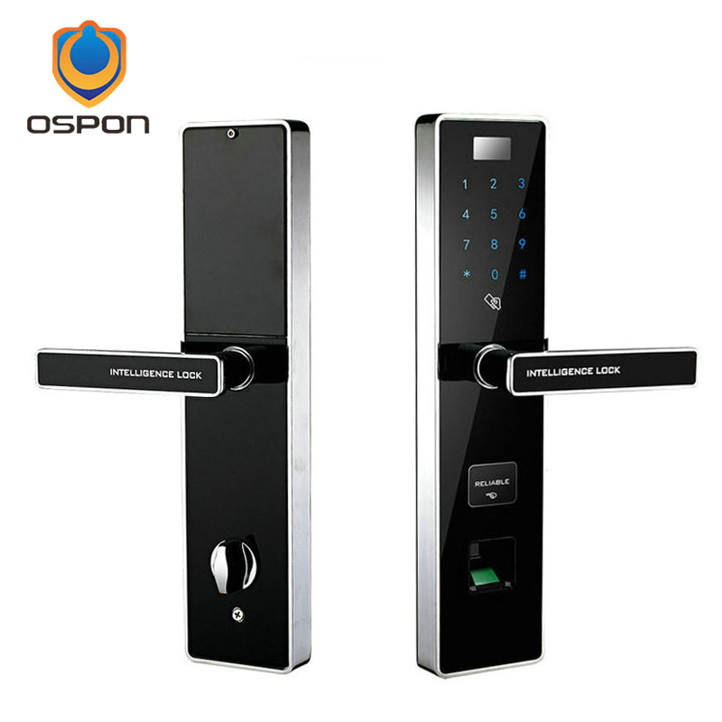 Anshi Bang Hot Products Zinc Alloy Fingerprint Anti-theft Door Lock , Chinese English Dual Voice OS008F high quality zinc alloy hasp latch lock door chain security anti theft clasp window cabinet locks for home hotel hardware k77