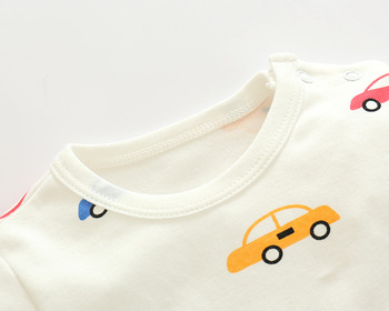 0-24M  Cartoon Car  new baby girl boy romper clothes  jumpsuit onepiece brand toddler suit infant clothing costume 100% Cotton 2