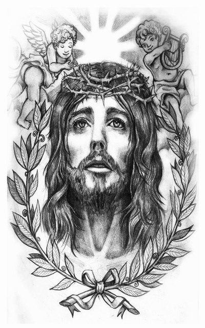 2pcs Prayer  Holy Jesus Christ Temporary Tattoo Body Art Sleeve Arm Flash Tattoo Stickers Fake Tattoo Waterproof Henna Tatto