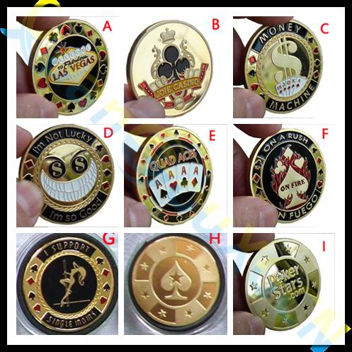 Metal Banker Press Card Poker Chips Texas Hold'em Accessories Souvenir Commemorative Coins Porker Star Protector