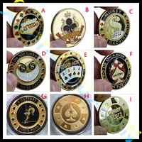 Metal Banker Press Card Poker Chips Texas Hold'em Accessories Souvenir commemorative coins porker star Protector