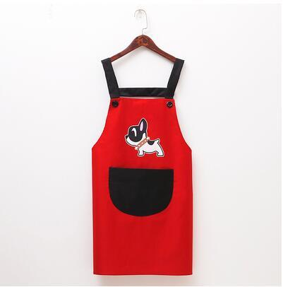 Couple cute dog waterproof and oil-proof apron kitchen gowns  My Pet World Store