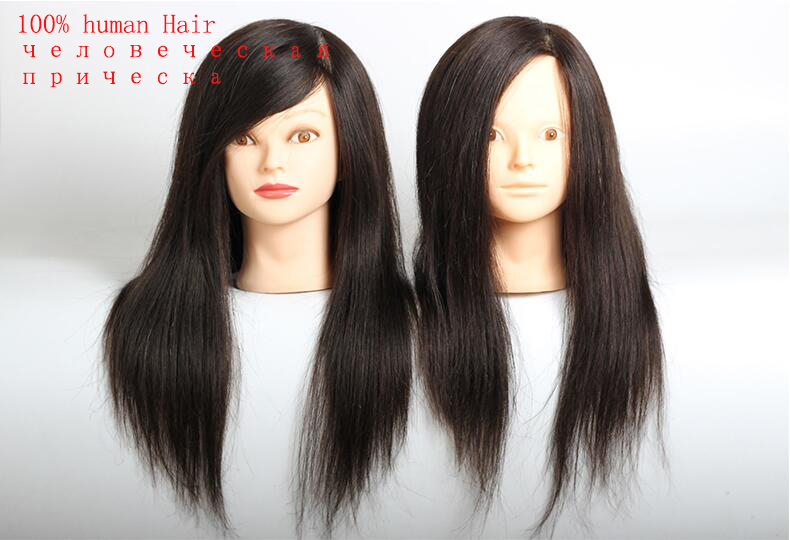 100% real hair mannequin head for sale hairdressing head styrofoam mannequin head Mannequins Dummy Hairdresser Training Head