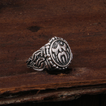 Dropshiping Odin Symbol Norse Viking Runes Rings For Men Runic 4