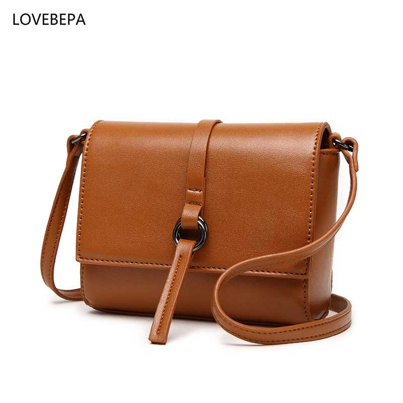 font b Leather b font Bag fashion women shoulder bag female crossbody bag high quality
