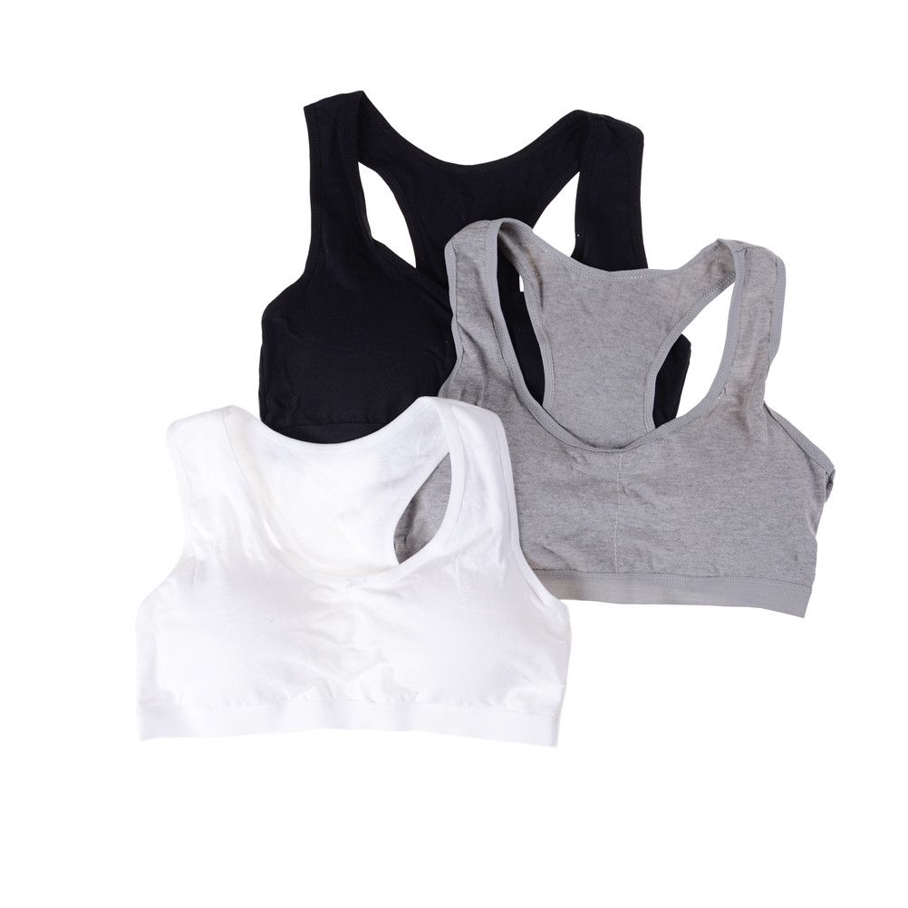 1PC Wireless Underwear Cotton Classic Vest Bra Breathable Young Girl Bra For Girl Student Sleeping Wear Solid Color