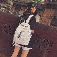 2017 New Harajuku Wind Ulzzang Japanese Canvas Backbag Simple Personality Backpack Female Middle School Students Bag