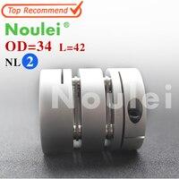 Noulei D34mm L42mm Inner 6 35X10mm Flexible Couplings Aluminium CNC Stepper Motor Flexible Shaft Coupler 6