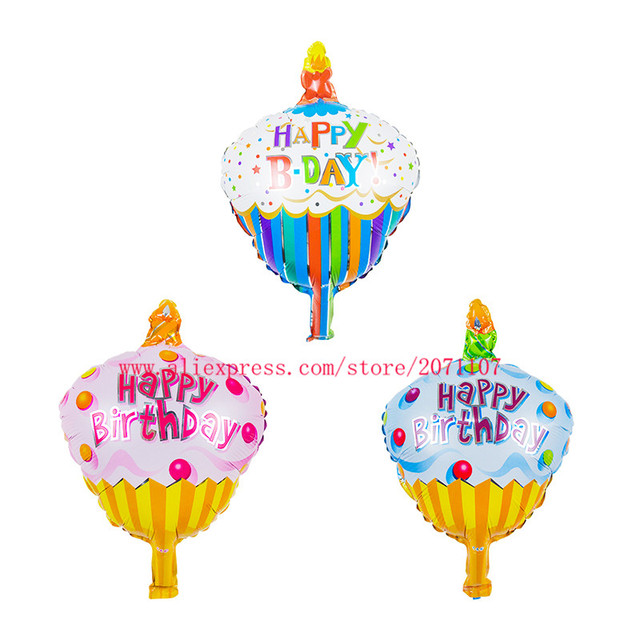 Lucky 150pcslot Mixed Lovely Birthday Cakes Mini Balloon Baby