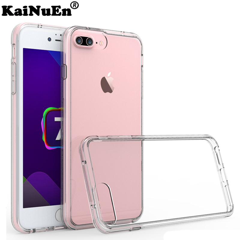 kainuen luxury transparent phone capinha coque cover case for iphone 8 plus 8plus for apple iphone8 silicone silicon accessories in Fitted Cases from Cellphones Telecommunications