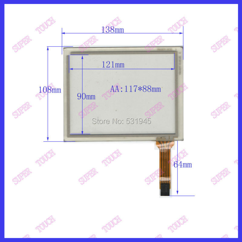ZhiYuSun 138mm*108mm on display TR4-057F-19 UN UG  NEW Touch Screen 5.7inch  glass 138*108  commercial use 164mm 103mm touchscreens on gps car and at070tn83 display and commercial use 164 103 4 inch