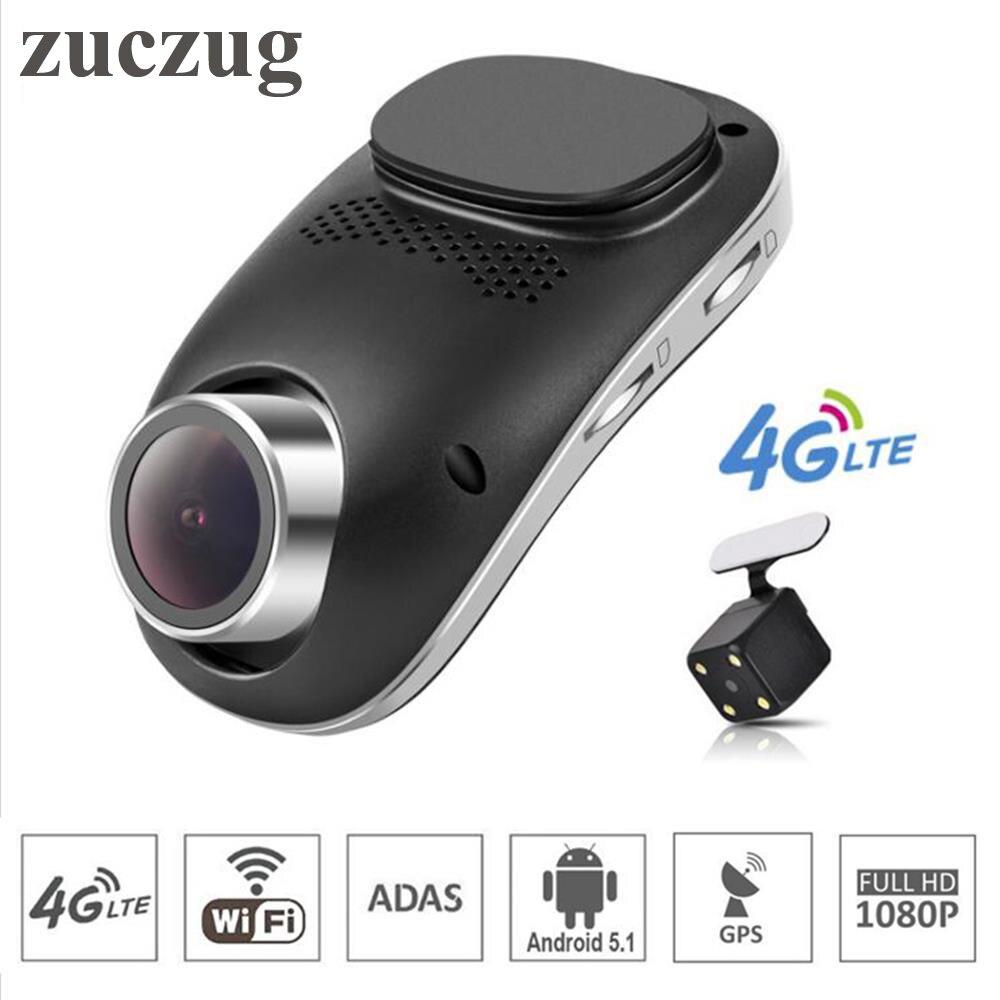 Dual Dash Cam >> zuczug mini wifi car dvr video record auto camera dash cam 4G Android GPS ADAS dash camera dual ...