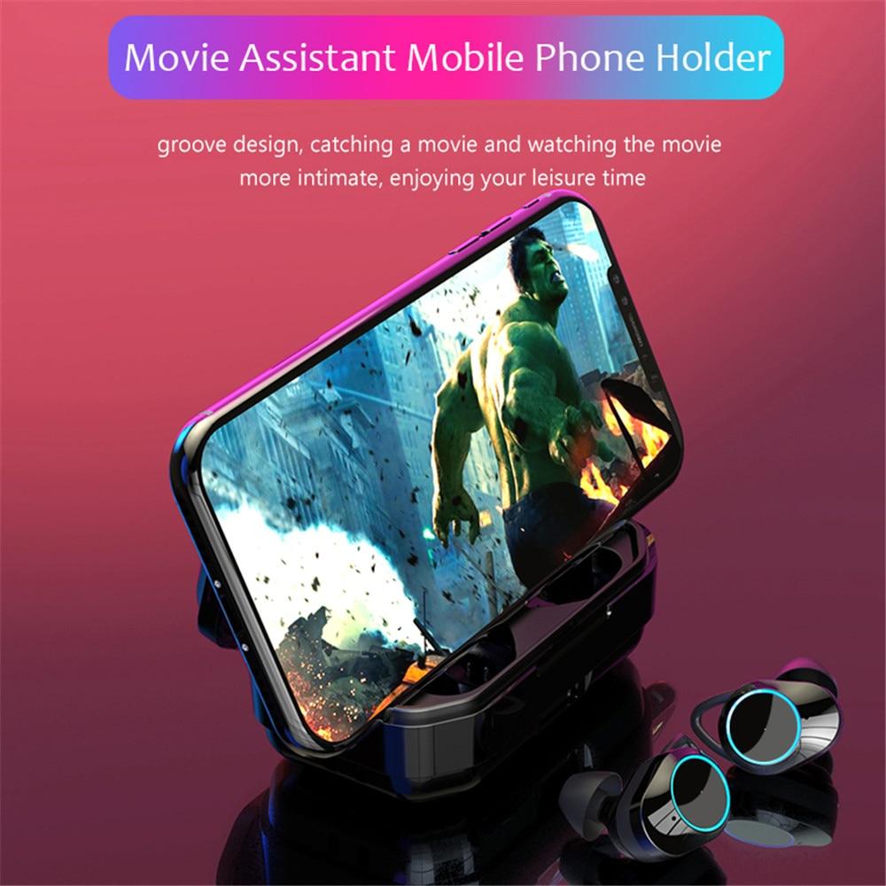 G02 TWS 9D Stereo Bluetooth 5 0 Earphone Waterproof Earbuds Touch Control In ear Earphones Wireless Headset 3300mAh Charging Box in Phone Earphones Headphones from Consumer Electronics