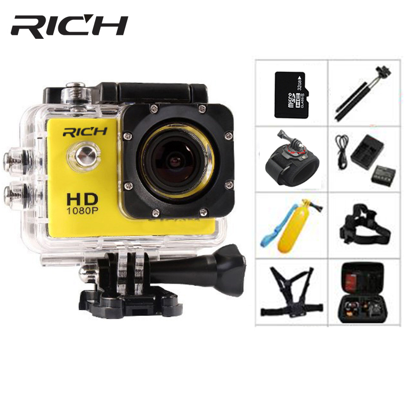 RICH Action Camera D9 HD 1080P Digital Sports DVing Photo Cam underwater Waterproof cameras 30M Camcord 2.0 Inch Mini Video Cam 30m video