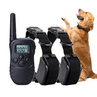 Rechargeable Dog Remote Training Collar Pet Dog Anti Barking Collar Shock Vibration Controller Pet Training Equipment For Dogs