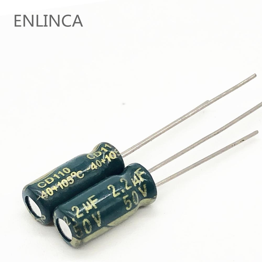 20pcs/lot Q04 High Frequency Low Impedance 50v 2.2UF Aluminum Electrolytic Capacitor Size 5*11 2.2UF 20%