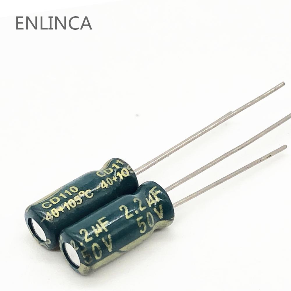 2.2UF 50V NICHICON SMD ALUMINUM ELECTROLYTIC CAPACITORS 50v2.2uf 10PCS