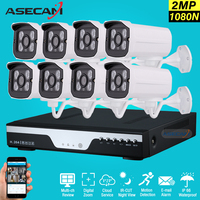 Hot 8 Channel 1080p CCTV Camera H 264 DVR AHD 2MP Home Outdoor Security Camera System
