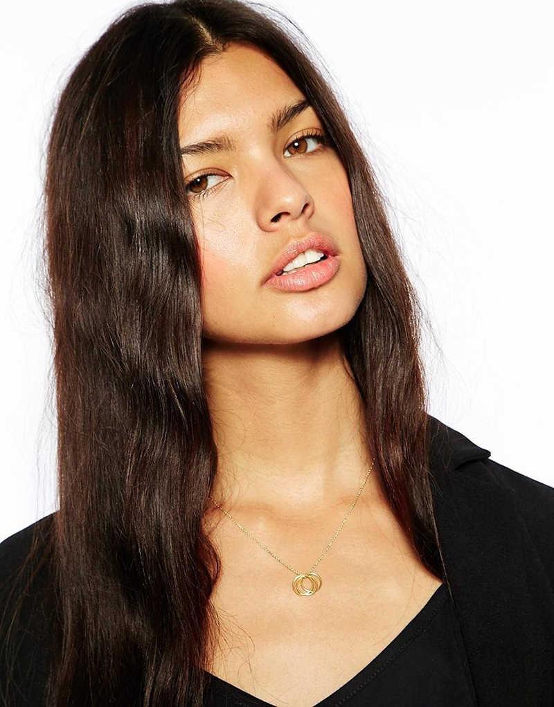 Europa e gli stati Uniti popolare classico rotondo di metallo semplice collana femminile regalo XL112
