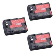 3Pc Sanyo Cells LP-E6 LP E6 LPE6N Camera Battery AKKU for Canon DSLR EOS 5D Mark II Mark III 60D 60Da 7D 70D 6D Camera accessory