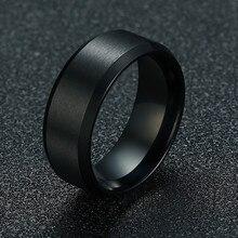 ZORCVENS Новое модное 8 мм классическое мужское кольцо из нержавеющей стали 316L ювелирное обручальное кольцо для мужчин