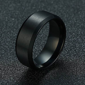ZORCVENS 2020 New Fashion 8mm Classic Ring Male 316L Stainless Steel Jewelry Wedding Ring For Man