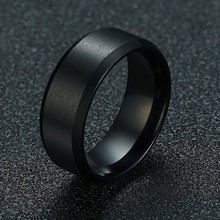 ZORCVENS 2019 New Fashion 8mm Classic Ring Male 316L Stainless Steel Jewelry Wedding Ring For Man