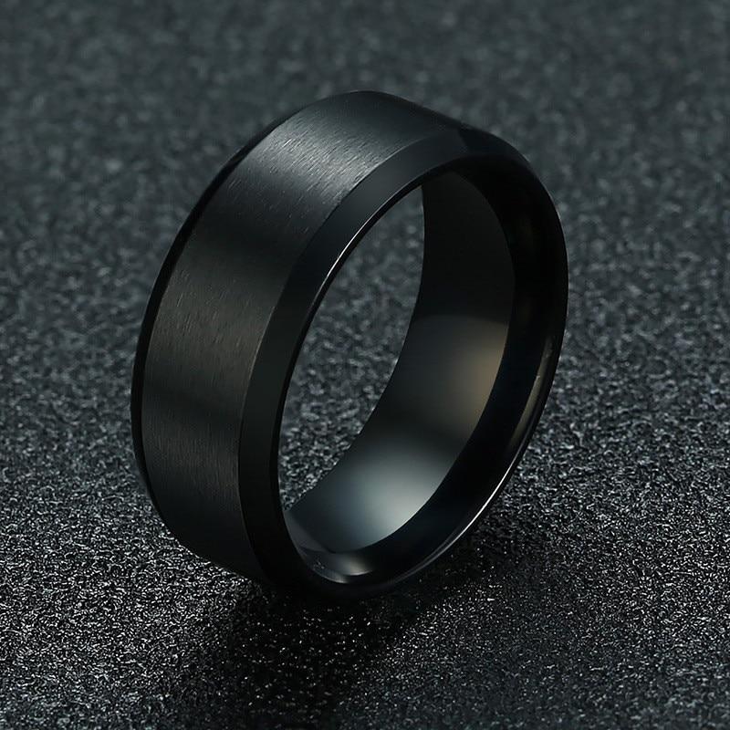 Новинка 2020, модное классическое мужское кольцо 8 мм от zorcins, ювелирные изделия из нержавеющей стали 316L, обручальное кольцо для мужчин