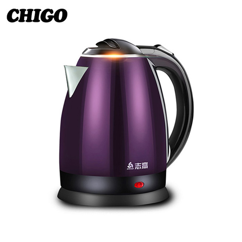 Chigo Teteras eléctricas Acero inoxidable inteligente control de temperatura constante Home agua 1.8l aislamiento térmico tetera zj18a-708g8