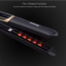 Infrared Flat Iron LED Display Hair Straightener Straightening Curling Iron Corrugated Hair Curler Crimper Temperature Control50