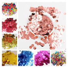 300g/500g/1kg 1.5CM Rose Gold Foil Confetti Balloons Baby Wedding Birthday Party Gold Round Star Heart Shape Confetti Decor gift