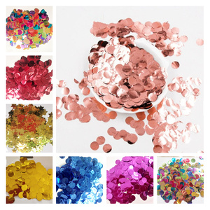 Image 1 - 300g/500g/1kg 1.5CM Rose Gold Foil Confetti Balloons Baby Wedding Birthday Party Gold Round Star Heart Shape Confetti Decor gift