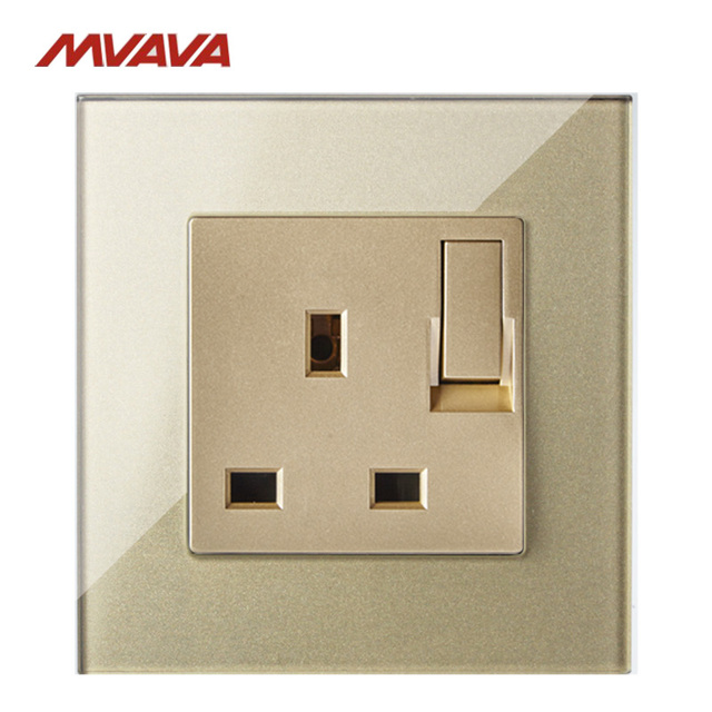 MVAVA 13A Switched Socket Electrical Wall 3 Pin Outlet With Switch ...